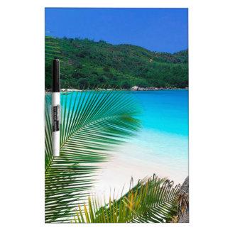 Beach Tropical Retreat Seychelles Dry Erase Board