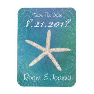 Beach Tropical Save The Date Magnet
