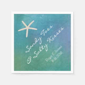 Beach Tropical Starfish Napkins Disposable Serviette