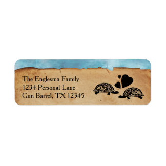 Beach Turtle Whimsical Address Labels