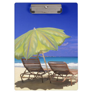 Beach Umbrella, Abaco, Bahamas Clipboard