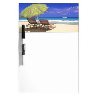 Beach Umbrella, Abaco, Bahamas Dry Erase Board