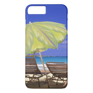 Beach Umbrella, Abaco, Bahamas iPhone 8 Plus/7 Plus Case