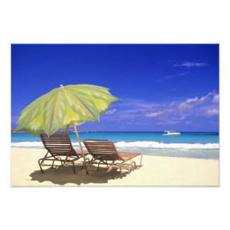 Beach Umbrella, Abaco, Bahamas Photo Art