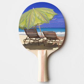 Beach Umbrella, Abaco, Bahamas Ping Pong Paddle