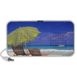 Beach Umbrella, Abaco, Bahamas Portable Speakers