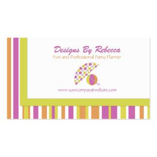 Beach Umbrella Business Cards