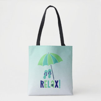Beach Umbrella Relax Its Good For Your Health Tote Bag
