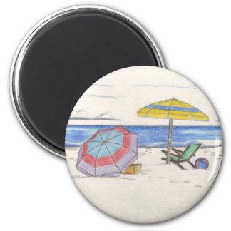 BEACH UMBRELLAS magnet (round)
