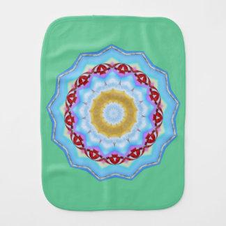 Beach Umbrellas Ocean Dreams Summer Mandala Burp Cloth
