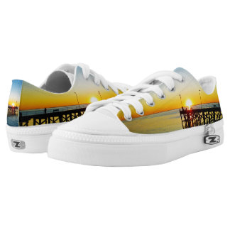 Beach,_Unisex_Lowtop_Zipz_Sneakers Printed Shoes