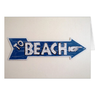 beach vacation card