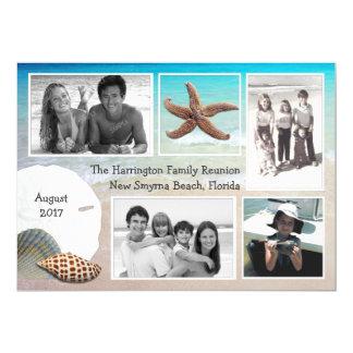 Beach Vacation Reunion Multi Photo Cards 13 Cm X 18 Cm Invitation Card