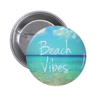 Beach vibes 6 cm round badge