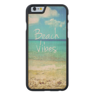 Beach vibes carved® maple iPhone 6 case