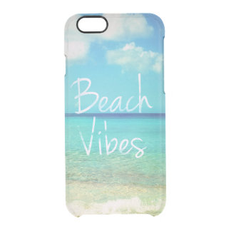 Beach vibes clear iPhone 6/6S case