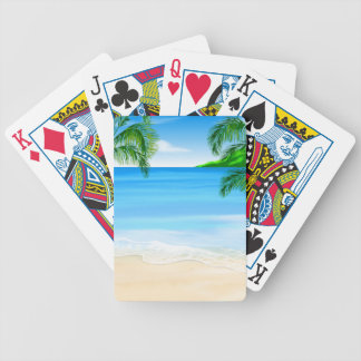 Beach View Bicycle Playing Cards