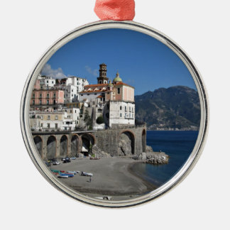 Beach view from Atrani Christmas Ornament