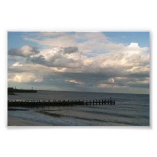 Beach view photo print