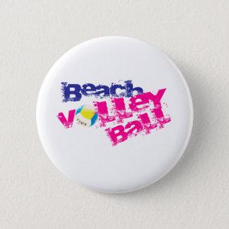 Beach Volleyball 6 Cm Round Badge
