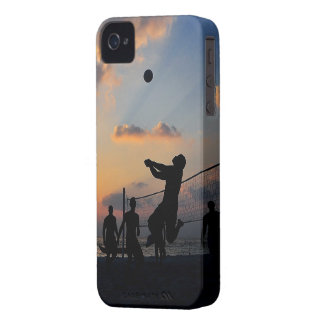 Beach Volleyball at Sunset iPhone 4 Cover