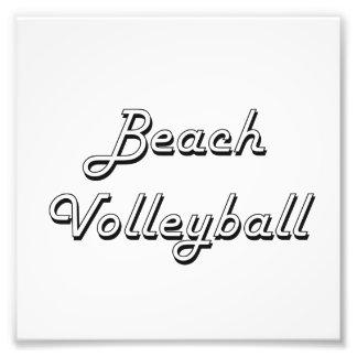 Beach Volleyball Classic Retro Design Photographic Print