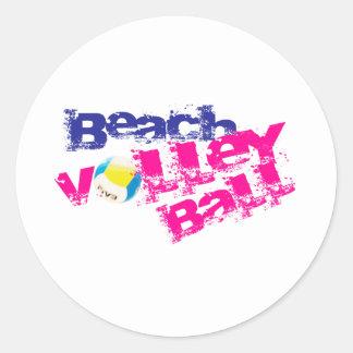Beach Volleyball Classic Round Sticker