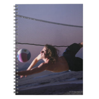 Beach Volleyball Game 2 Spiral Notebook