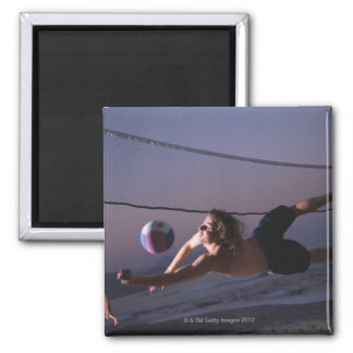 Beach Volleyball Game 2 Square Magnet