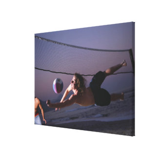 Beach Volleyball Game 3 Canvas Prints