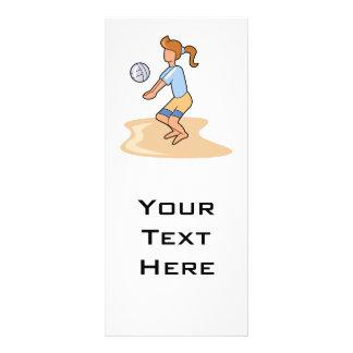 beach volleyball girl rack card template