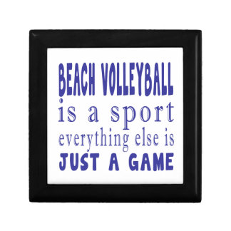 BEACH VOLLEYBALL JUST A GAME SMALL SQUARE GIFT BOX