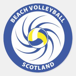 Beach Volleyball Scotland Classic Round Sticker