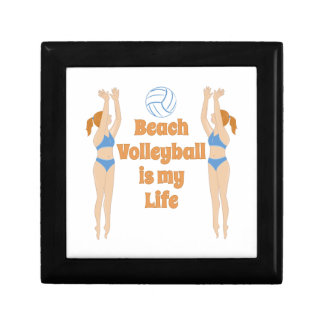 Beach Volleyball Small Square Gift Box