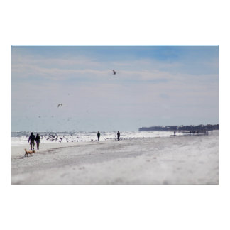 Beach Walk Poster -60x40 -other sizes available