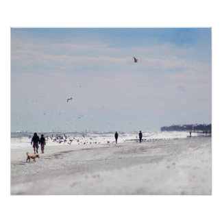 Beach Walk Print -24x20 -other sizes available