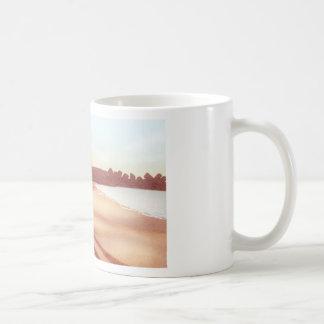 "Beach walk - ""We lived by the ocean"" Coffee Mug"
