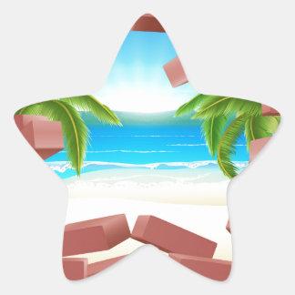 Beach Wall Concept Star Sticker