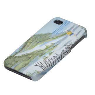 Beach watercolor case for the iPhone 4