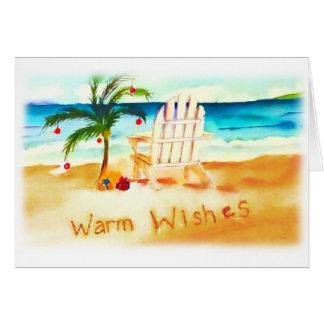 Beach Watercolor Christmas Card