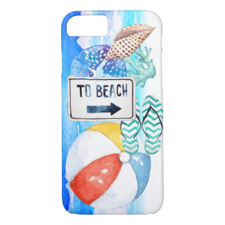Beach Watercolor Elements iPhone 8/7 Case