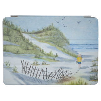 Beach watercolor iPad air cover