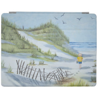 Beach watercolor iPad cover