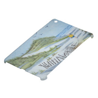 Beach watercolor iPad mini cases