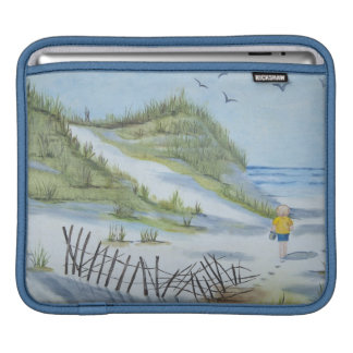 Beach watercolor iPad sleeve