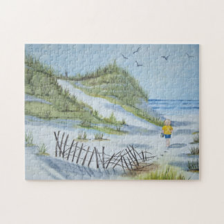 Beach watercolor jigsaw puzzle