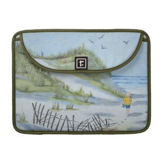 Beach watercolor sleeve for MacBooks