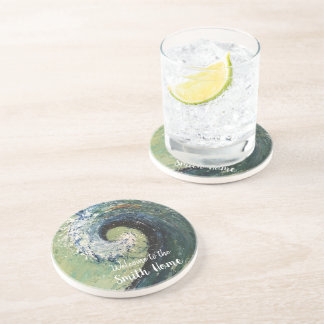 Beach Wave Abstract Painting Coaster