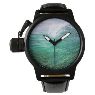 Beach wave wrist watch