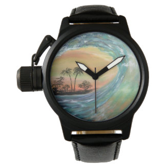 Beach wave wrist watches